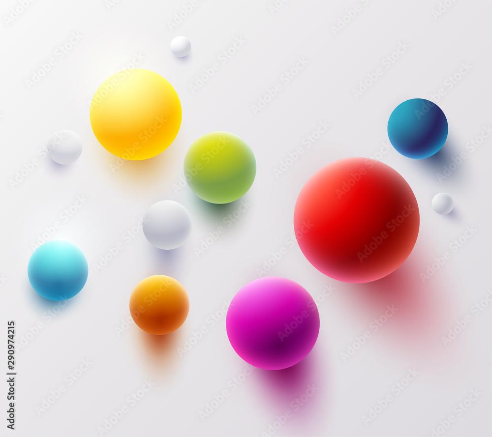 Multicolored 3D balls
