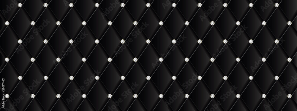 Fototapeta Quilted and strass banner
