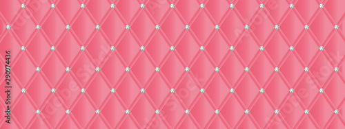 Carta da parati Quilted and strass banner