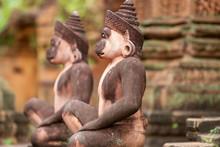 Monkey Sculptures, Angkor Wat,...