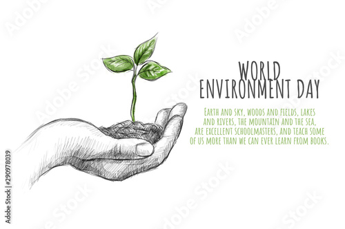 concept of world environment day Canvas