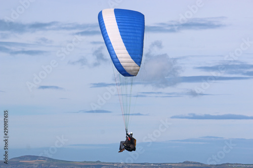 Paraglider in the Brecon Beacons, Wales