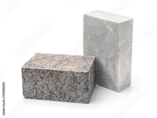 Fotografía  Unpolished granite and marble stone blocks