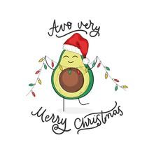 Avocado Very Merry Christmas C...