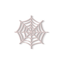 Grey Spider Web Icon Isolated ...