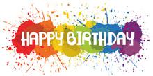 Paint Splat - Happy Birthday