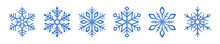 Set Of Blue Snowflakes Icons. Snowflakes Template. Snowflake Winter. Snowflakes Icons. Snowflake Vector Icon