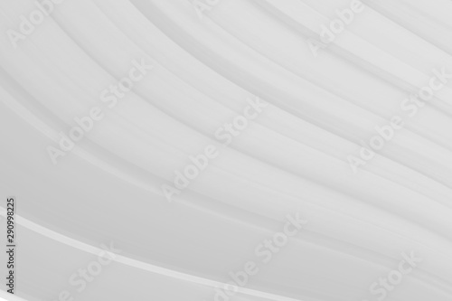 Papiers peints Tunnel Abstract Background on isolated. Abstract white waves. Wave from Curtain.
