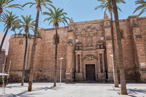 Cathedral of the Encarnacion, has a fortress structure, presents an architecture of transition between the late Gothic and the Renaissance, Almeria, Spain