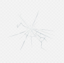 Broken Glass Texture Isolated On White Transparent Background
