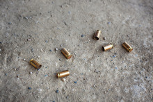 9 Mm Bullet Shells Lying On Th...