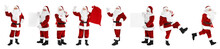 Set Of Authentic Santa Claus On White Background