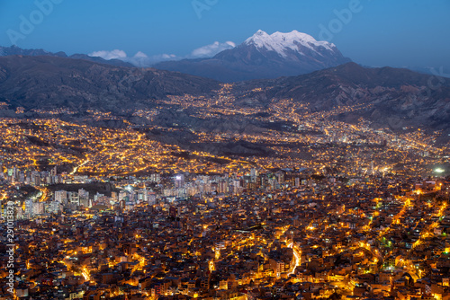 Illimani the most beautiful mountain in Bolivia, which overlooks the city of La Paz Wallpaper Mural