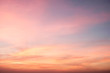 canvas print picture - Sky in the pink, blue  and purple colors sky
