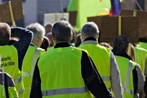 Fototapeta gilets jaunes manifestation