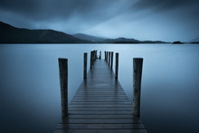 Ashness Jetty In A Miserable Weather. Derwent Water, Lake District.