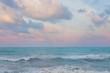 Beautiful pastel sunset sky with cloudscape