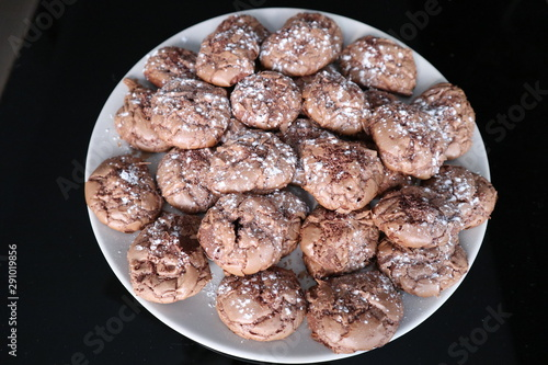 homemade cookies with sugar glass