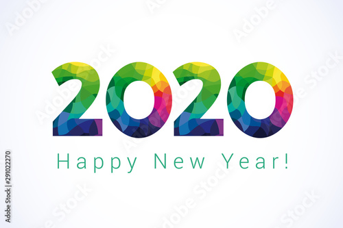 2020 Happy New Year greetings Wallpaper Mural