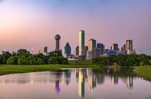 Dallas Skyline At Twilight