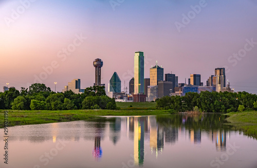 Dallas skyline at twilight