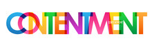 CONTENTMENT Colorful Rainbow T...