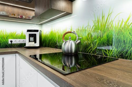 Fototapeta Modern interior design - kitchen obraz
