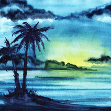Abstract Watercolor Landscape....
