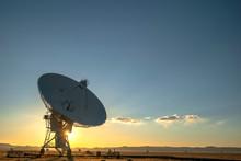 Satellite Antenna With Sun Set...