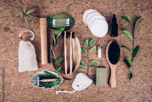 Sustainable lifestyle. Zero waste, ban plastic in the Bathroom. Slika na platnu