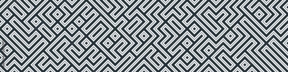 Fototapeta Truchet Random Pattern Generative Tile Art background illustration
