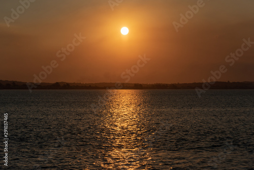 Beautiful sunset landscape in the Atlantic Ocean at the city of Buzios