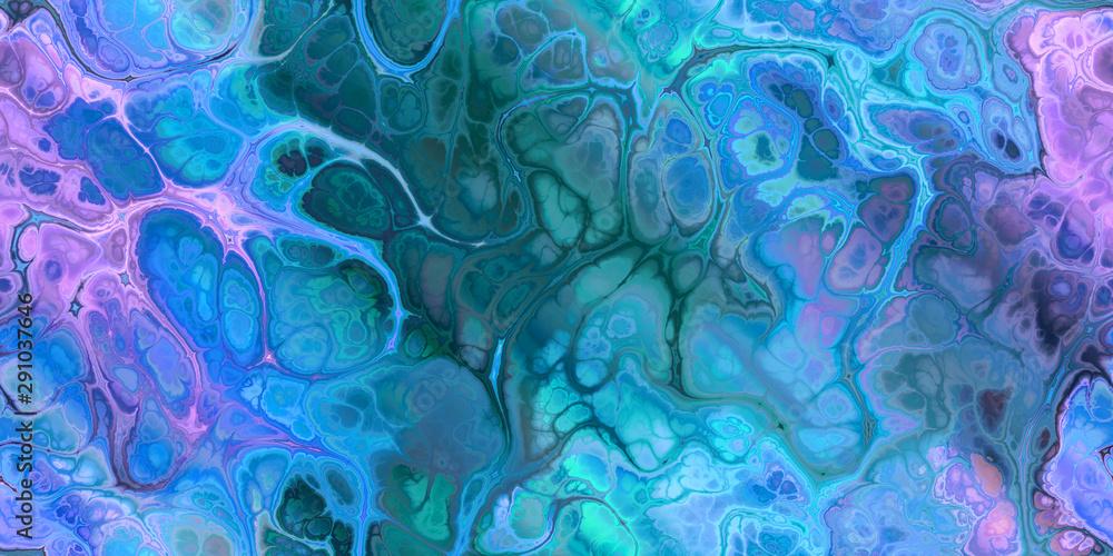Fototapeta blue teal purple marbleized seamless tile for paper arts textile design