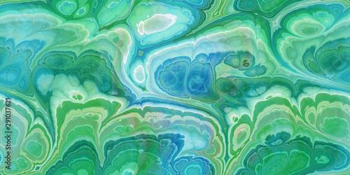 Fotografija blue green marbleized seamless tile