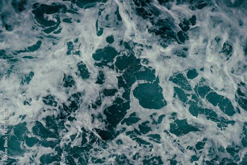 Foamy Elliott Bay green water in Seattle, Washington Canvas Print