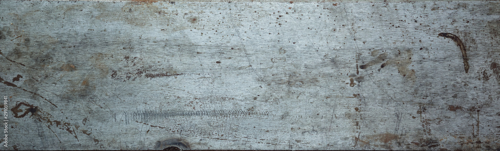 Fotografía  Steel textured metal sheet with rust. Background banner. Top view