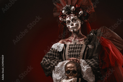 Halloween Girl in a Death Costume