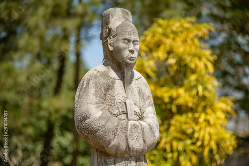 Foto op Plexiglas Historisch geb. Stone guard statue in the entrance of The Tomb of Khai Dinh