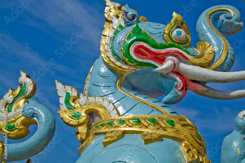 Foto op Plexiglas Historisch geb. Dragon mythological statue