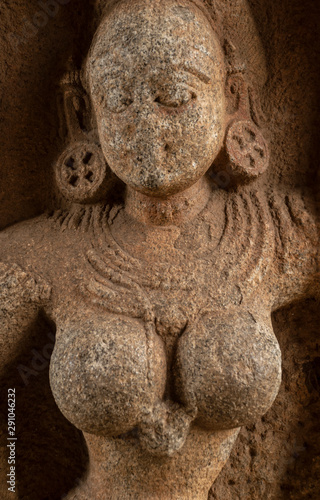 Foto op Plexiglas Historisch geb. Carved sandstone sculpture of Vijayanagar empire