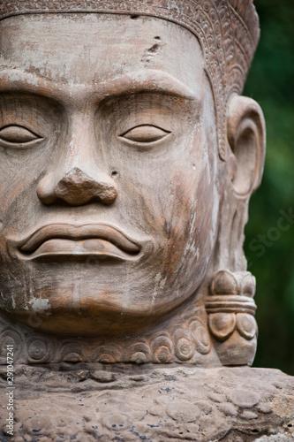 Foto op Canvas Historisch mon. Statue in Angkor Wat temple