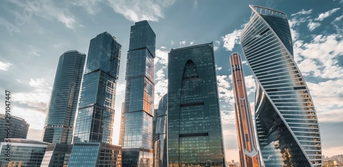Fototapeta Moscow bird's-eye view obraz