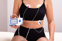 Patient With Holter Monitor De...