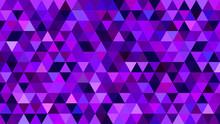 Purple BG With Triangles. Dark Violet Pattern