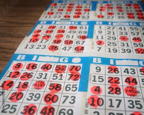 Photo Bingo cards being played