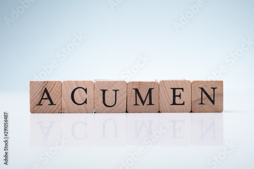 Photo Acumen Word Made With Wooden Blocks
