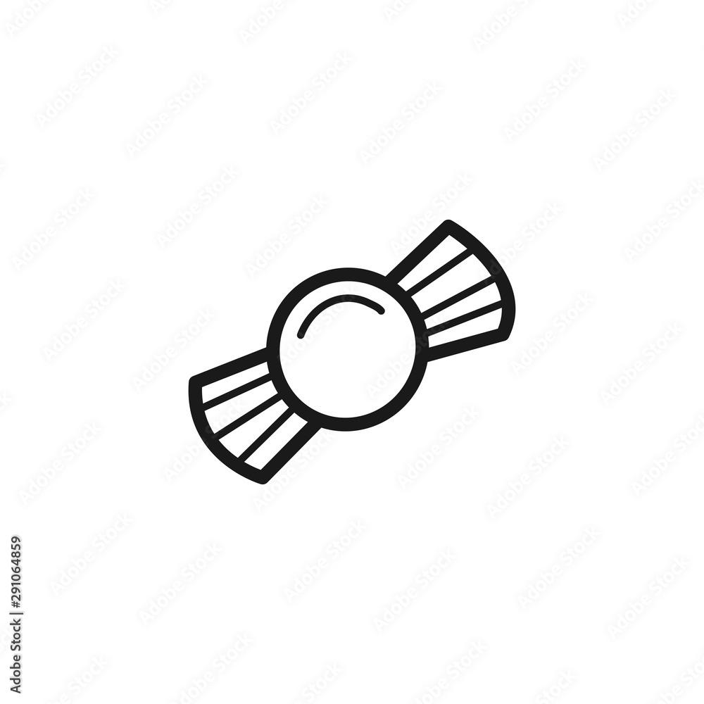 Fototapeta Hand drawn Candy isolated on a white. Sketch. Vector illustration. - obraz na płótnie