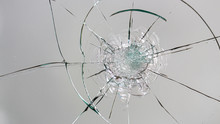 Cracked Glass On A White Backg...