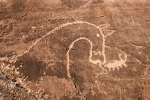 Native American Petroglyph In ...