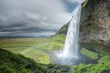 Seljalandsfoss Waterfall In Ic...
